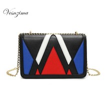 VESNZIMA fashion small ladie's shoulder bag geometric small bags for lady girl female crossbody bag on a chain VZ072ZN bolsos