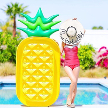 island Pineapple Inflatable Air Mattress Water Boat Float Pool Swimming Summer Beach Bed Toys Adult Kids fruit Floats Kickboard(China)