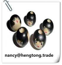 Doll head group wooden beads, colored beads, DIY hand beads(China)