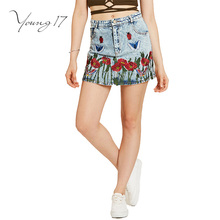 Buy Young17 Girl Summer Skirt Denim Blue Casual Girls Mini Skirts Women Embroidery Pocket A-Line Floral Girls Knee Mini Skirt for $11.56 in AliExpress store