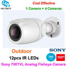 New Mini Bullet Waterproof Outdoor IR Fisheye Camera 700TVL Sony CCD CCTV Cam with 1.2mm 360/1.5mm 180/2.1mm 130 degree Lens