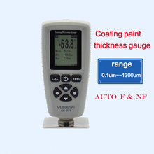 YUWESE EC-770 coating paint thickness gauge AUTO tester F&NF range 0-1300um coating thickness tester