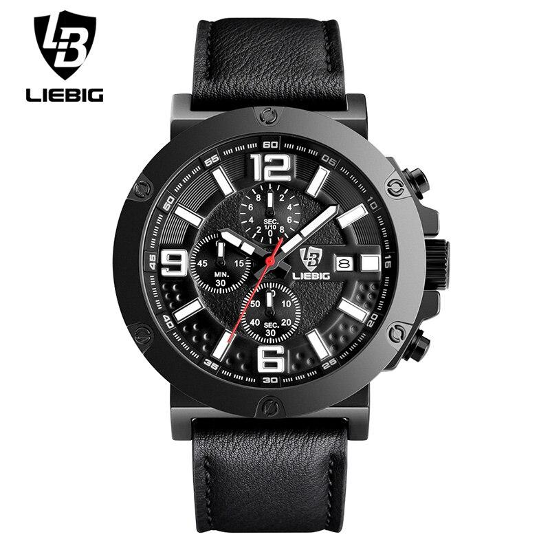LIEBIG 1017 Men Quartz Wristwatch Commander Series Waterproof Fashion Stopwatch Military Outdoor Sport Watches Relogio Masculino<br>