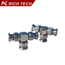 50pcs Excellent Nickel plated T shape BNC male plug connector 3xBNC adapter BNC T splitter converter for video/CCTV Camera/TV(China)