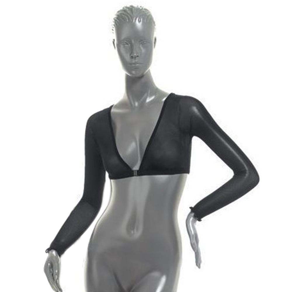 Women Sexy Lace T-Shirt Deep V-neck Long Sleeve Casual Solid Transparent Mesh Sheer Tops Slim Tops Plus Size Harajuku Hot Summer 5