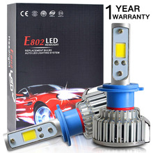 2pcs H7 LED H4 H1 H3 H11 9005 9006 Car headlight 50W 8000LM H4 Hi Lo beam Auto Front Bulb Automobiles Headlamp Car Light(China)