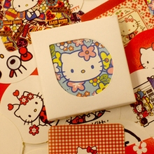 Cute Creative 38 Pcs/set Hello Kitty Cat Stickers Adhesive Stickers DIY Decoration Toy Stickers Stationery(China)