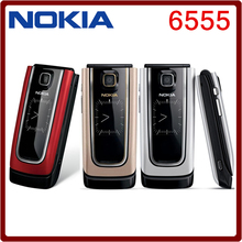 Unlocked Original Nokia 6555 Cell Phone 3g mobile phone have Russian keyborad One Year Warranty Free Shipping In STOCK