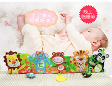 Jolly Baby 78cm Baby Cloth Book Teethers BB Devices Lion Giraffe Bed Hanging Revolves Enlightenment Education Book Kids Gifts