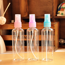 5 Pieces Mini Plastic Transparent 100ml Small mini Empty Spray Bottle For Make Up perfume Refillable Bottle D0598(China)