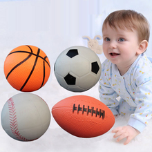 Inflatable Rubber Baseball/Basketball/Football/Rugby Child Sports Ball Beach/Pool/Garden Play Antistress Ball Baby Kendama Toys(China)