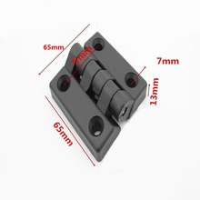 5pcs/Lot Black nylon Door Butt Hinges Cabinet Door hinge 65mm x 65mm Plastic Bearing Hinge thickness 13mm