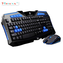 Ecosin2 Mosunx 2017  Fashion Design Gaming wireless 2.4G keyboard and Mouse Set to computer Multimedia Gamer 17mar16
