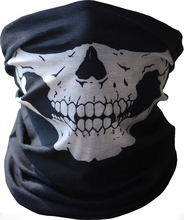 HOT Cool Tubular Skull Ghosts Ghost Mask Bandana Motor bike Sport Scarf Neck Warmer Winter Cold Halloween For Motorcycle(China)