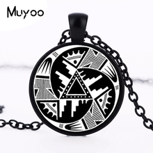 Wholesale Indian Hopi Design Pendant Black and White Anasazi Indian Necklace Native American Design Choker Necklace Women HZ1(China)