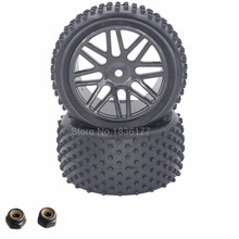 2Pcs 88MM Rubber RC 1/10 Buggy Wheels Tires Rear Hex 12mm Width :41mm For Remote Control Hobby Car