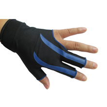 NEW Blue 3-Finger Billiard Gloves Snooker Pool Shooters Left Hand Snooker cue High Quality Billiard