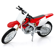 1/12 Scale DieCast Motorcycle Models MotorBike Red MAISTO For CRF450R Children Gifts Collections Displays