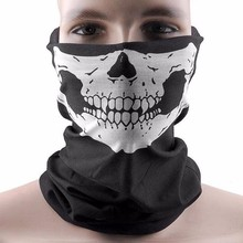 Hot Sale 48.5cm*25cm Skull Half Face Bandana Skeleton Ski Motorcycle Biker Paintball Face Mask Scarf Unisex Halloween Mask V172