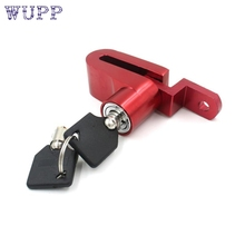 2016 New Security Anti-theft Disc Brake Wheel Lock For Motorcycle Scooter Bicycle red