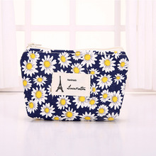 DUDINI Small Fresh Style Coin Purse Retro Cotton Fabric Coin Packet Purse Soft Zipper Headset Bag Card holder Women Wallet(China)