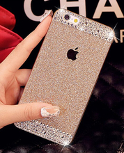 Glitter powder rhinestone bling luxury diamond clear crystal hard for iphone4S 5S 6P 7G 8P for SamsungS3 S4 S5 S6 S6E+ S7E Case(China)