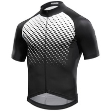 italy fabric SGCIKER diamond print summer short sleeve cycling jersey only mens red bike clothing MTB Ropa Ciclismo MITI sleeves