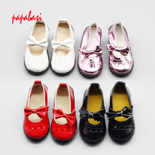 7.8cm Bowknot high heels dolls shoes For 16inch 1/3 BJD shoes, sandals fit 60cm SD dolls children Christmas gift free shipping(China)