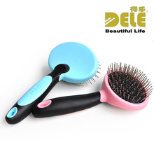 Practical Cats Dogs Pet Comb Brush Stainless Steel Needle Comb Soft Bottom Head Massage Brush Beauty Products Detangling M-003