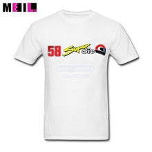 Superhero Man's Super Sic Marco Simoncelli 58 Logo tshirt Short Sleeve tee shirt XXXL  Design For Tshirt