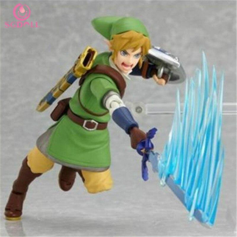 [SGDOLL] 2017 New The Legend of Zelda Skyward Sword Link 15cm Figma 153 Action PVC Figure No Box Hot Sale Free Shipping 5658-L<br><br>Aliexpress
