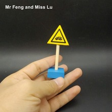 Children Educational Toys Model Scene Traffic Signs Prop Wooden(China)
