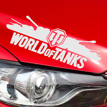 2 Pieces WORLD OF TANKS Stickers Decal Car-Styling For vw audi ford bmw Benz opel Nissan SEAT car accessories