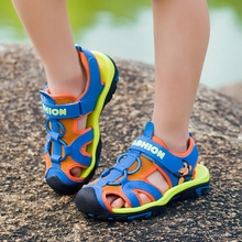 ULKNN 2017 summer kids shoes brand closed toe toddler boys sandals orthopedic sport pu leather baby boys sandals shoes