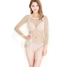 2017 Summer Beach Cover Tunics Sea Top Batwing Sleeve Big Plus Size Sexy Women Crochet Blouses Boho Poncho Mujer Blusas Feminina