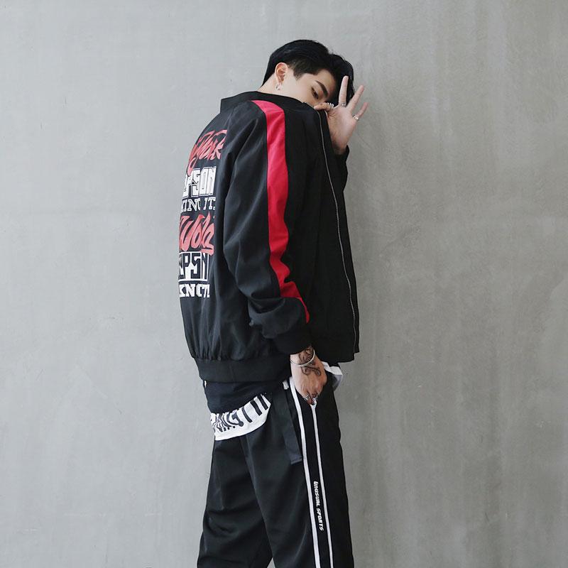 Bomber Jacket Men Pilot Printed Streetwear  (5)
