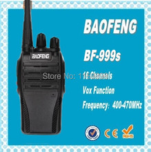 DHL freeshipping+4pcs 2014 new Cheap Walkie Talkie BF-999s 5W 16CH UHF 400-470MHz Interphone BaoFeng Two-Way Radio update bf888s