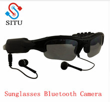 Sport Wireless Sunglasses Bluetooth Camera Eyewear Glasses Support TF Card Video Recorder DVR DV Camcorder mp3 earphone(China)
