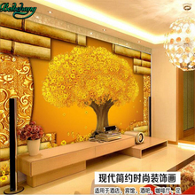beibehang Personality custom wallpaper mural 3D stereo murals make money tree TV wall decoration painting(China)