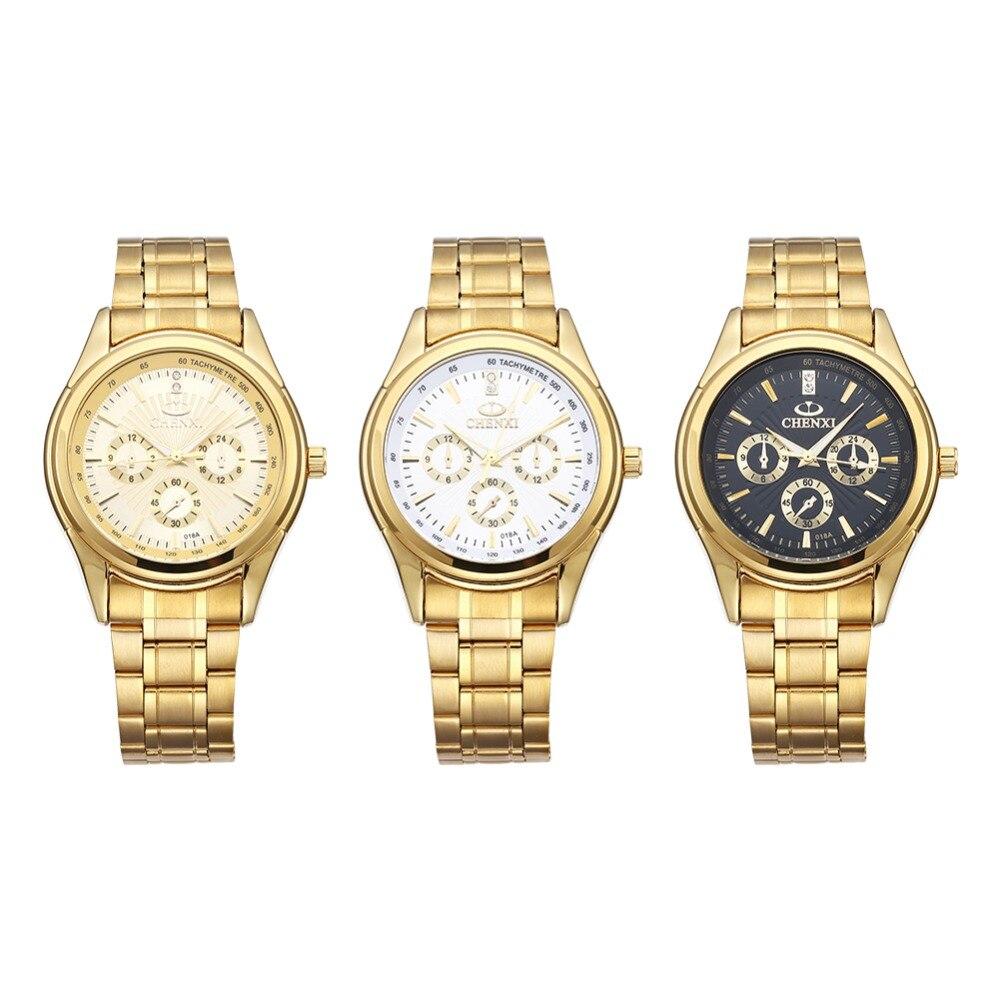 Chenxi Brand Men Business Waterproof Watches Fashion golden Stainless Steel Strap Quartz Clock Wristwatches Relogio masculino<br><br>Aliexpress