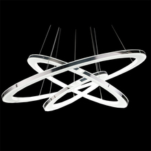 Acrylic Rings Nordic Modern Pendant Lamps Lighting Fixtures Dia40/50/60/80CM for Restaurants Bedroom Office Living Room Stair(China)