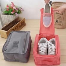 Nylon Mesh Travel Portable Tote Shoes Pouch Waterproof Storage Bag 6 colors Available Retail Wholesale Price(China)