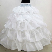 4 Hoops 5 Layers Wedding Bridal Petticoat  Underskirt Crinolines For Ball Gown Wedding Dresses Accessories Hot Selling