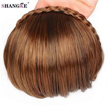 Buy SHANGKE Short Braid Hair Bangs Natural Fake Hair Pieces Heat Resistant Synthetic Bangs Women Braid Hairstyles Fake Hair for $5.51 in AliExpress store