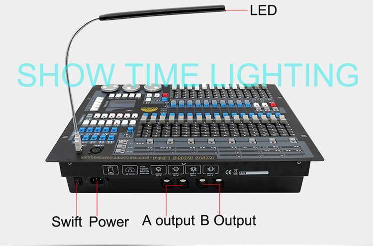 SHOW TIME Kingkong 1024 DMX Controller Stage light DMX console for XLR-3 led par beam moving head DJ light stage effect light