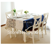 Free shipping-Travel around the world Korean flax fabric cloth(140*180cm)only 1pcs table cloth