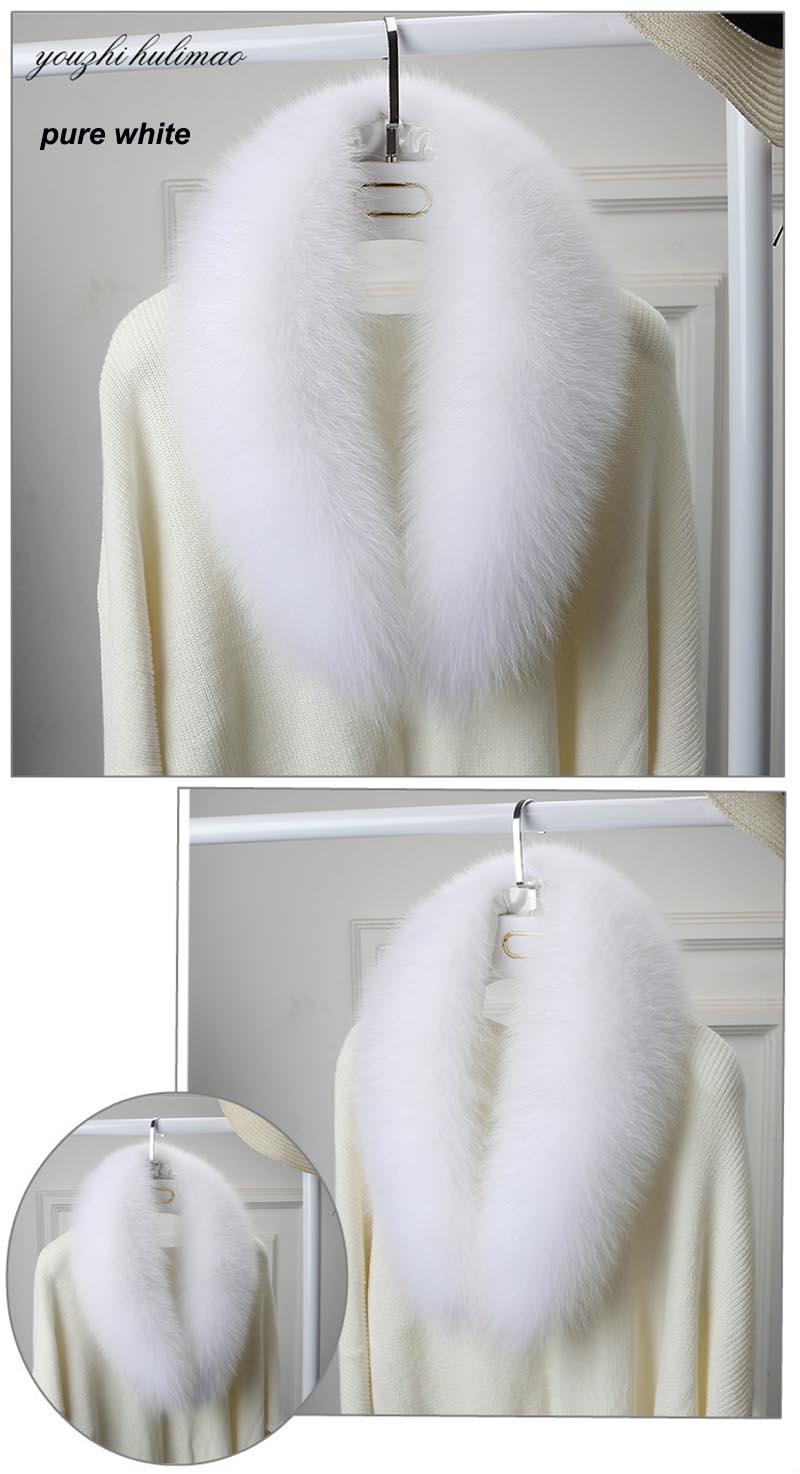 fox fur collar pure white