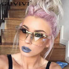 Hot Fashion Brand designer sunglasses women Summer Rimless Square Shades Sun glasses Eyewear sunshines Luxury sunglasses woman(China)