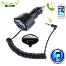 AUTO New BC10 Bluetooth Car Hands-free 3.5mm AUX Stereo Audio Receiver Adapter Car Kits JAN16 car-styling led car styling(China)