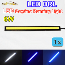 flytop 1 PIECE 6W LED DRL Daytime Running Light Waterproof COB 17CM Auto Lamp Universal for all Car Models(China)